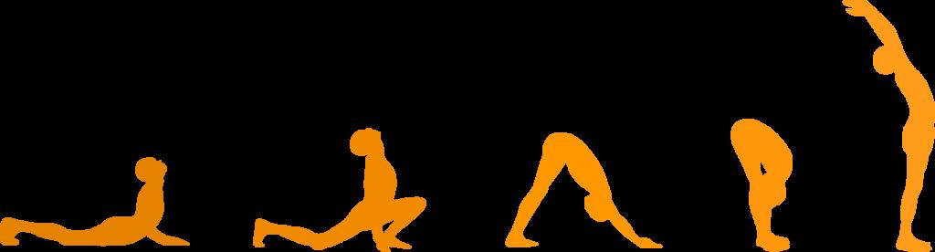 Silouette posizioni yoga